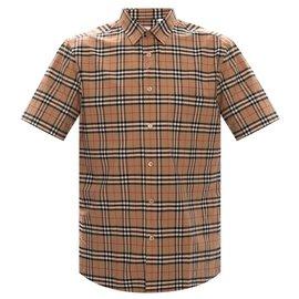Burberry-burberry checked shirt-Blue