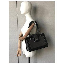 Chanel-Medium Boy Jetsetter Shopping Tote-Grey,Dark grey