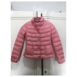 Moncler-Girl Coats outerwear-Pink