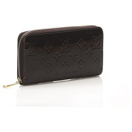 Louis Vuitton-Louis Vuitton Red Vernis Zippy Long Wallet-Red,Other