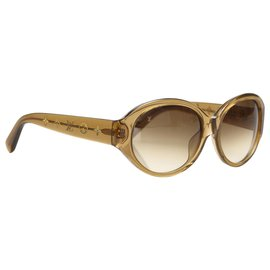 Louis Vuitton-Louis Vuitton Brown Round Tinted Sunglasses-Brown