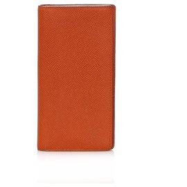 Louis Vuitton-Louis Vuitton Orange Taiga Long Wallet-Orange