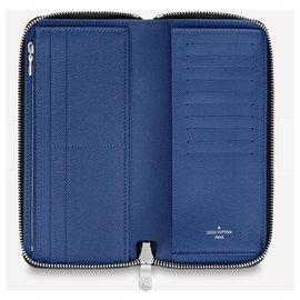 Louis Vuitton-LV zippy wallet blue-Blue