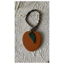 Hermès-Bag charms-Orange,Olive green