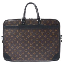 Louis Vuitton-Louis Vuitton Porte Documents Voyage-Brown