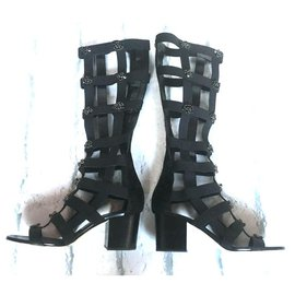 Jimmy Choo-Malini 65 gladiator sandals-Black