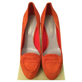 Sergio Rossi-Flats-Orange