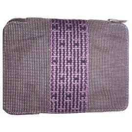 Hermès-HERMES vintage wallet Herline-Dark grey
