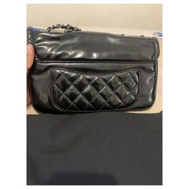 Chanel-Chanel small lipstick flap bag-Black