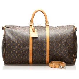 Louis Vuitton-Louis Vuitton Brown Monogram Keepall 55-Brown