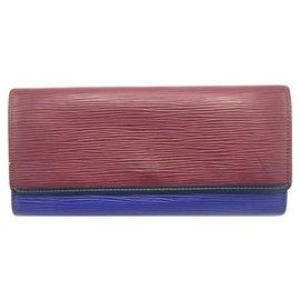 Louis Vuitton-Louis Vuitton Red Epi Flore Wallet-Red,Purple