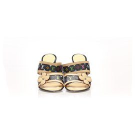 Louis Vuitton-Louis Vuitton Brown Monogram Multicolore Sandals-Brown,Multiple colors,Light brown