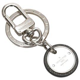 Louis Vuitton-Louis Vuitton Silver Monogram Key Chain-Silvery