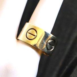 Cartier-Cartier Yellow Gold 18K 11mm Love Ring Size 61-Golden
