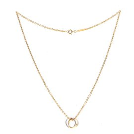 Cartier-cartier 18K Gold 750 Trinity Ring Charms Necklace-Golden