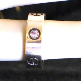 Cartier-cartier 18K 750 1P Sapphire Diamond Love Ring Size 48-Golden