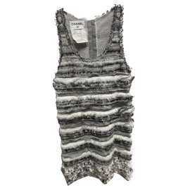 Chanel-Dresses-Silvery,Grey