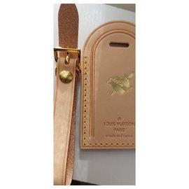 Louis Vuitton-Louis Vuitton bag charm porte adresse-Beige