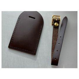 Louis Vuitton-Louis Vuitton tag porte adresse-Brown