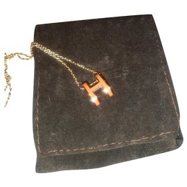 Hermès-Pop h necklace-Orange