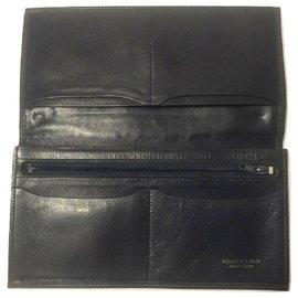 Pierre Balmain-PIERRE BALMAIN monogram wallet-White,Blue