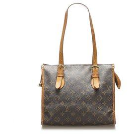 Louis Vuitton-Louis Vuitton Brown Monogram Popincourt Haut-Brown