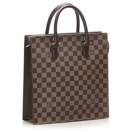Louis Vuitton-Louis Vuitton Brown Damier Ebene Venice Sac Plat-Brown