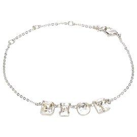 Dior-Dior Silver Logo Chain Bracelet-Silvery