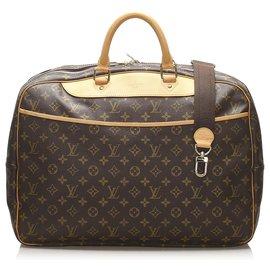 Louis Vuitton-Louis Vuitton Brown Monogram Alize 24 HEURES-Brown