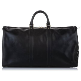 Louis Vuitton-Louis Vuitton Black Epi Keepall 55-Black