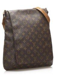 Louis Vuitton-Louis Vuitton Brown Monogram Musette Salsa Long Strap-Brown