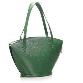 Louis Vuitton-Louis Vuitton Green Epi Saint Jacques PM Short Strap-Green