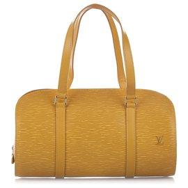 Louis Vuitton-Louis Vuitton Yellow Epi Soufflot-Yellow