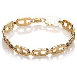 Dior-Dior Gold CD Chain Bracelet-Golden