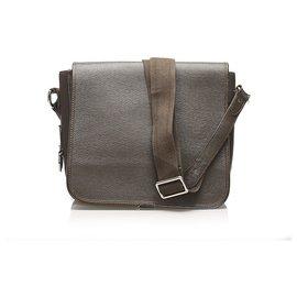 Louis Vuitton-Louis Vuitton Brown Taiga Andrei-Brown,Dark brown