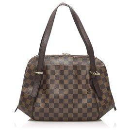Louis Vuitton-Louis Vuitton Brown Damier Ebene Belem MM-Brown