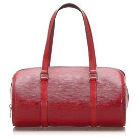 Louis Vuitton-Louis Vuitton Red Epi Soufflot-Red