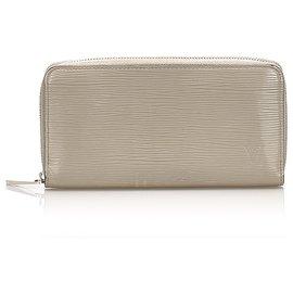 Louis Vuitton-Louis Vuitton White Epi Zippy Wallet-White