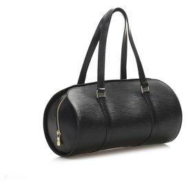 Louis Vuitton-Louis Vuitton Black Epi Soufflot-Black