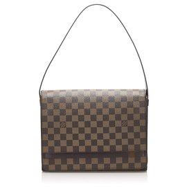 Louis Vuitton-Louis Vuitton Brown Damier Ebene Tribeca Long-Brown