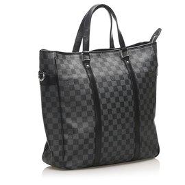Louis Vuitton-Louis Vuitton Black Damier Graphite Tadao PM-Black,Grey