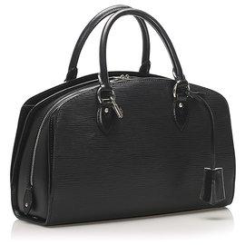 Louis Vuitton-Louis Vuitton Black Epi Pont Neuf PM-Black