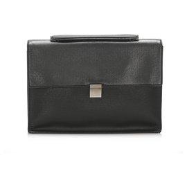 Louis Vuitton-Louis Vuitton Black Taiga Porte-Document Angara Briefcase-Black