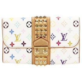 Louis Vuitton-Louis Vuitton White Monogram Multicolore Courtney Clutch-White,Multiple colors