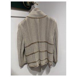 Chanel-Knitwear-Beige,Gold hardware