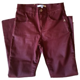 Patrizia Pepe-Pants-Dark red