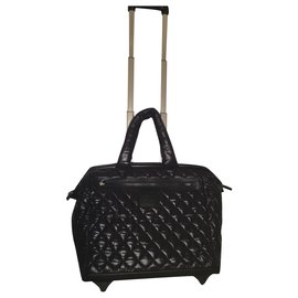 Chanel-Travel bag-Black,Silver hardware