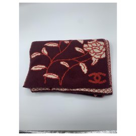 Chanel-Scarves-Dark red