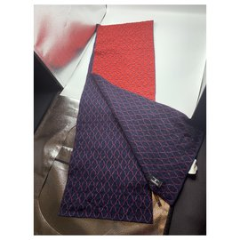 Chanel-Scarves-Red,Navy blue