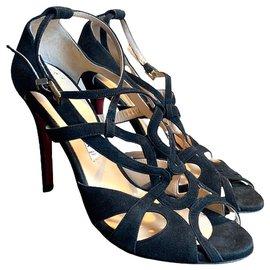 Luciano Padovan-High heel sandals-Black